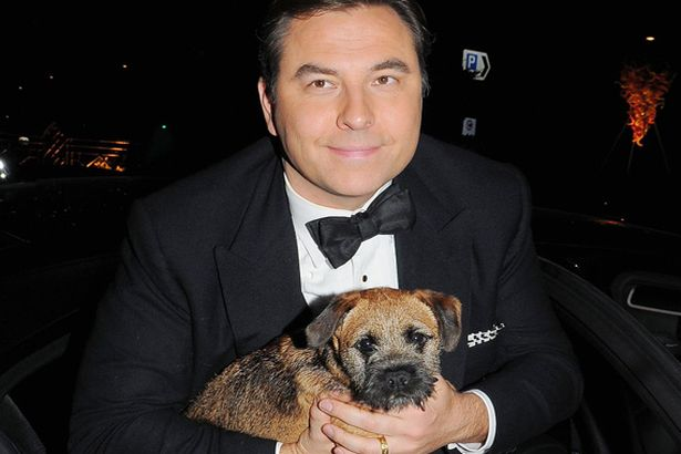David Walliams And His Dog Bert The Border Terrier