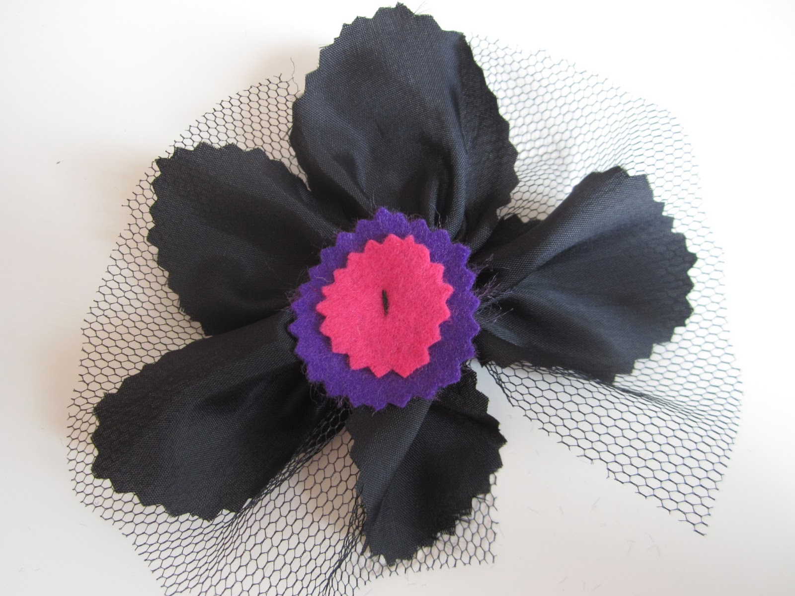 mis nancys, mis peques y yo, tutorial facil DIY tul y tela coser circulos fieltro