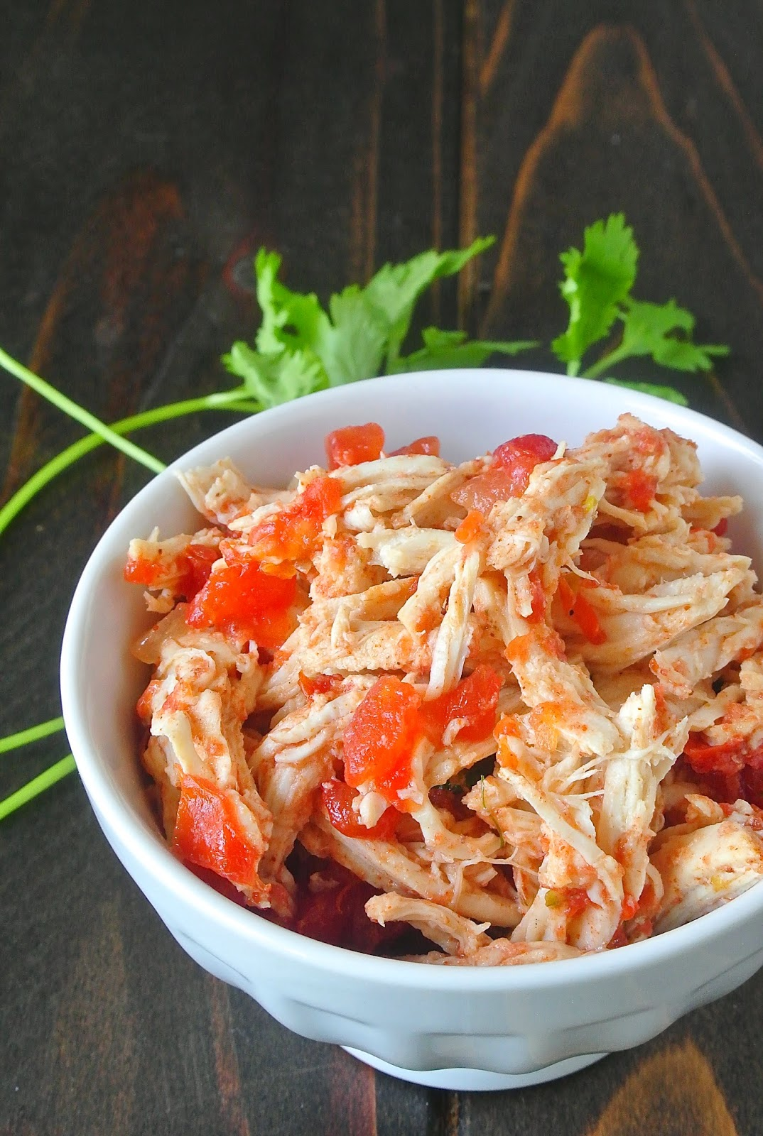 Crockpot  Mexican shredded chicken