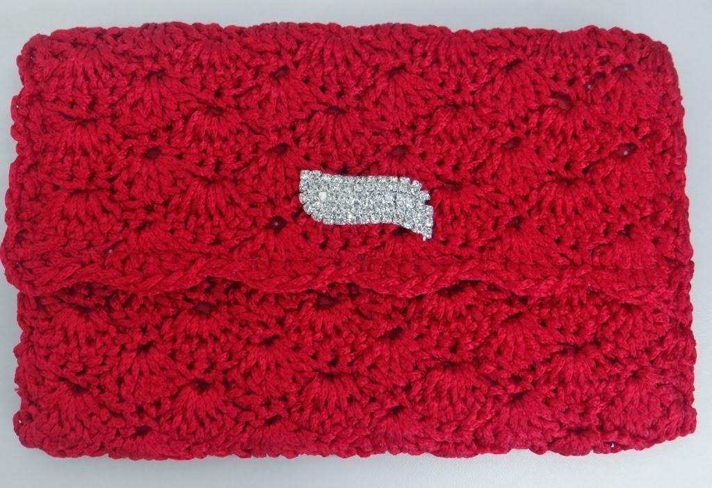 Bolsa De Croche Para Casamento : Croche com receita carteira em croch? encanto da circulo