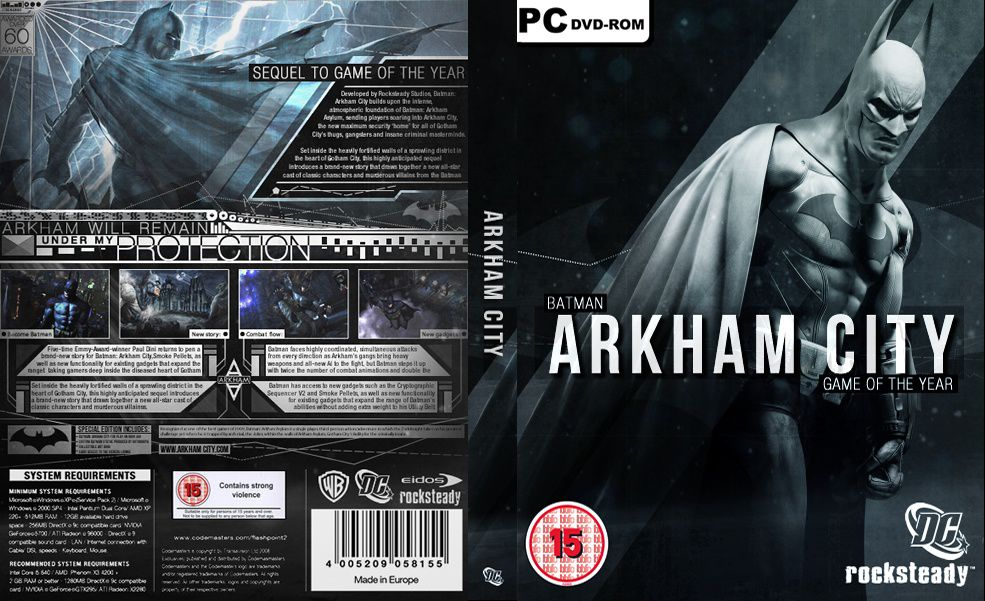 Capa Batman Arkham City Game Of The Year Edition PC