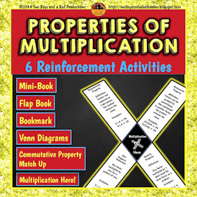 Properties of Multiplication 6 Pack
