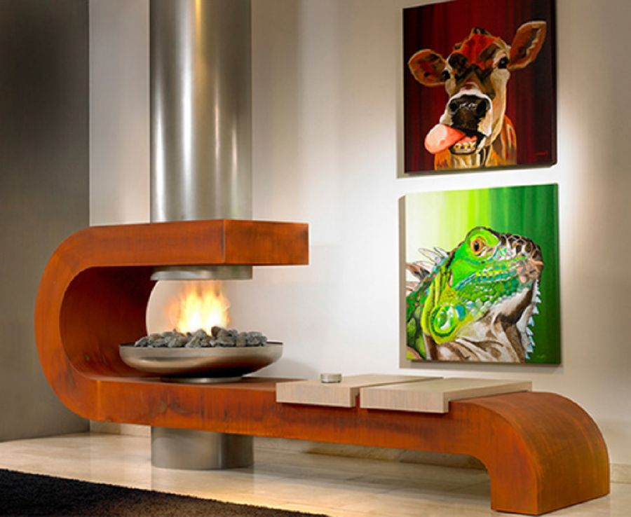 Chimeneas de dise o moderno ideas para decorar dise ar for Disenos de chimeneas