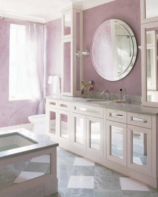 To da loos pink bathrooms galore for Gray and pink bathroom ideas