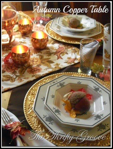 Autumn Copper Tablescape