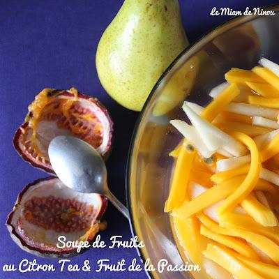 Illustration Soupe de Fruits au Citron Tea & Fruit de la Passion