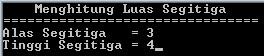 Menghitung Luas Segitiga (Bahasa Pascal)