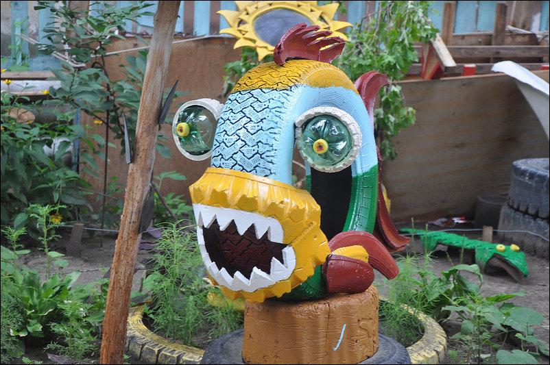 Gran idea para decorar un parque infantil o un jard n con for Adornos para parques y jardines