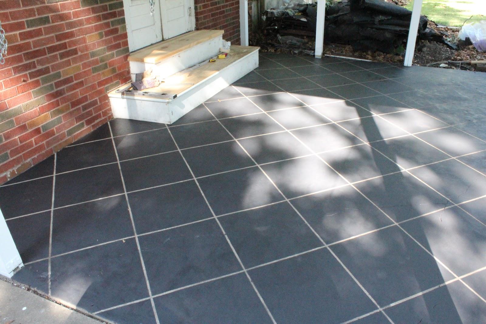 Naptime DIY Patio Concrete Stain