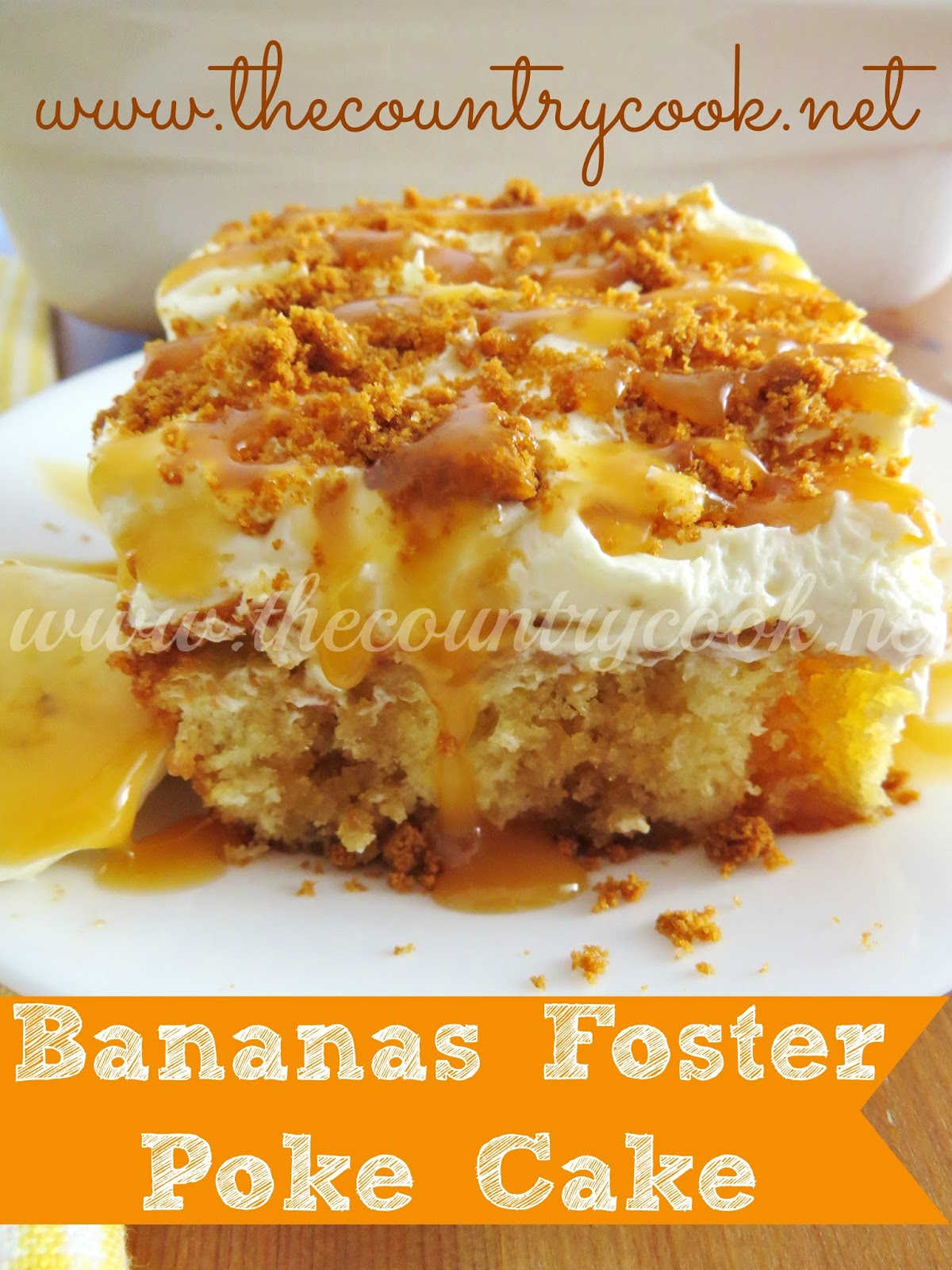 Bananas Foster Butter Cake