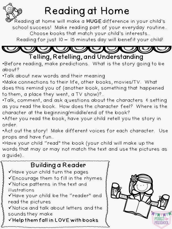 kindergarten homework letter to parents