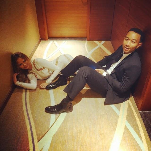 John Legend And Chrissy Teigen Locked Out of Hotel Room After Grammys
