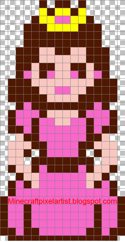 Minecraft Pixel Art Templates And Tutorials  Princess Peach
