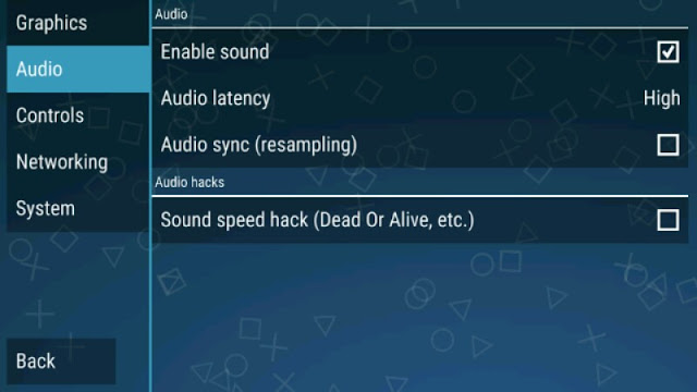 Setting audio PPSSPP