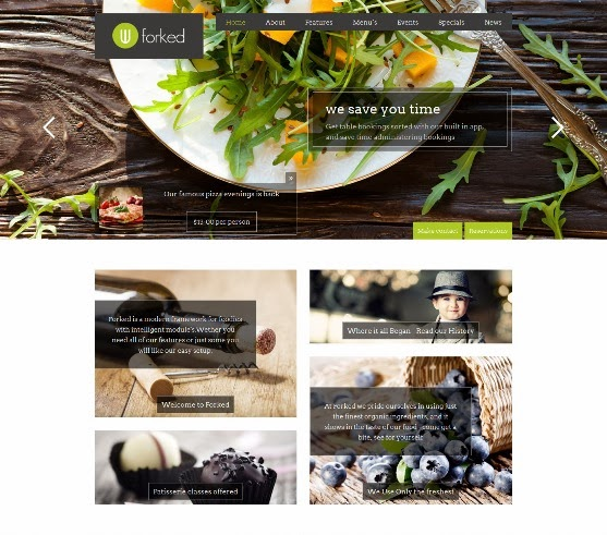 Forked Responsive WordPress Restaurant and events
