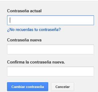 formulario cambio contrasena gmail