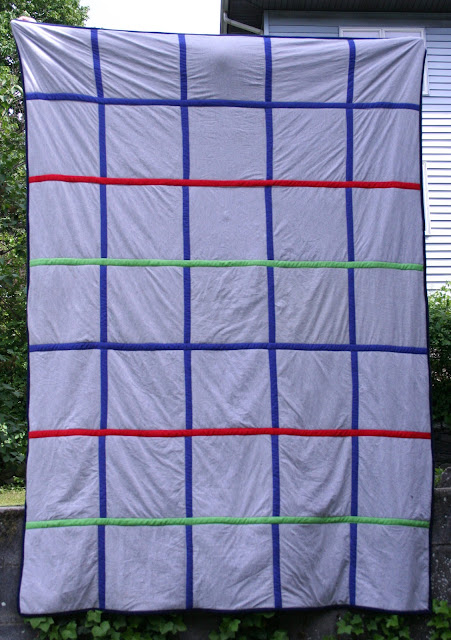Tangible Pursuits: T-shirt Quilt back