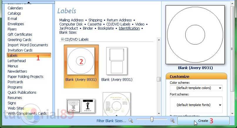 cara membuat label CD part 2 (setting label CD)