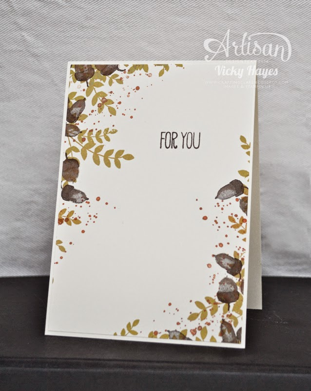 How to stamp off the edge with UK Stampin' Up demonstrator Vicky Hayes on the Artisan blog hop