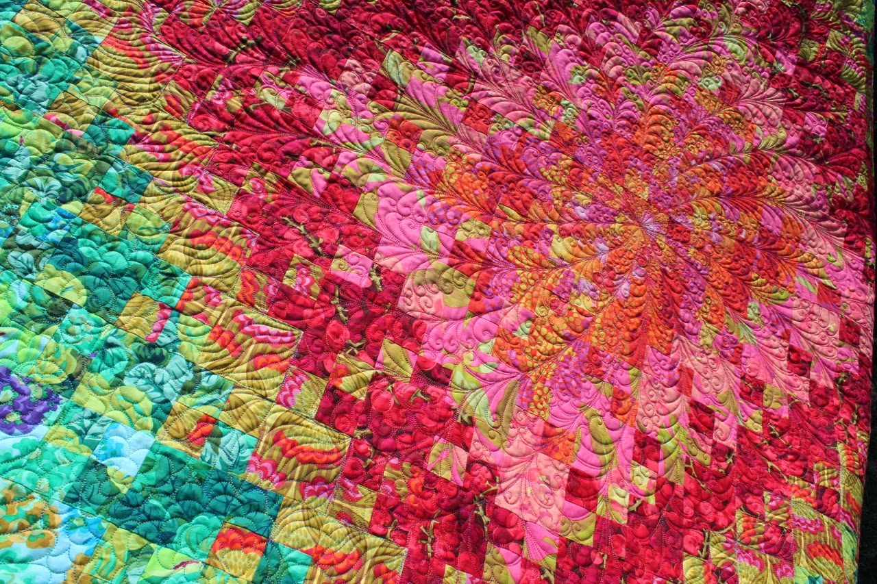The Beyondness Of Things Blooming Nine Patch Quilt