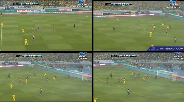 Gol kedua Pahang oleh Dickson Nwakaeme pada minit ke 70