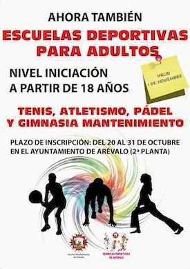 Este viernes se cierra el plazo de inscripción en las Escuelas Deportivas de Arévalo