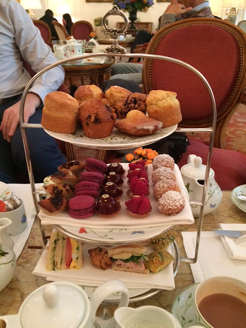 Tea time platter at Le Jardin Français, Le Bristol Paris