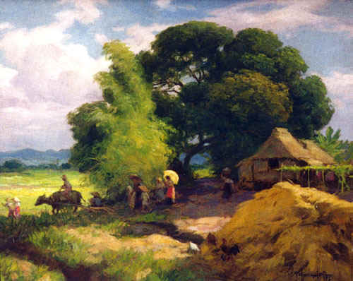 Fernando amorsolo 39 s paintings philippine famous painter for Best painting images