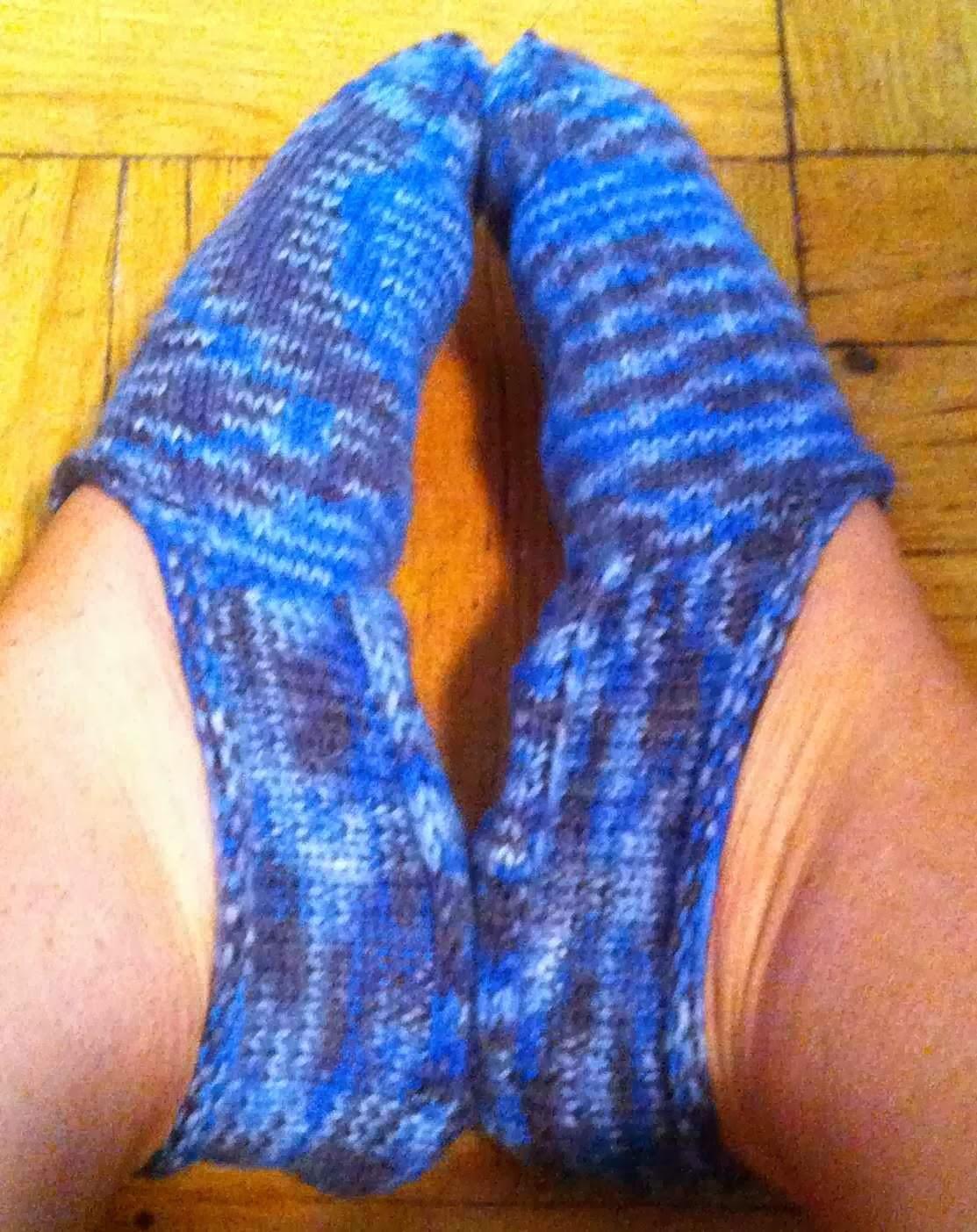 Free Knitting Pattern Bed Socks : Backward Knitter: Turkish Bed Socks
