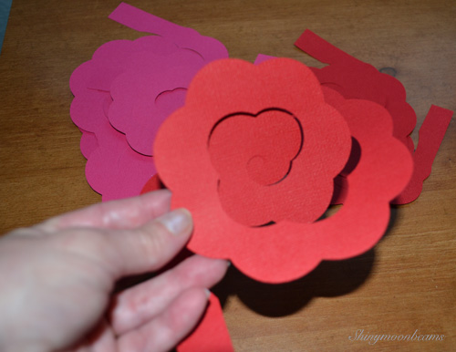 Shiny moon beams blog realistic paper flower wreath how to will need to make a paper flower wreath this how to really is more of where to gather supplies what you need to get started and how we made our wreath mightylinksfo