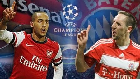 hasil pertandingan arsenal vs bayern munchen liga champions 2014