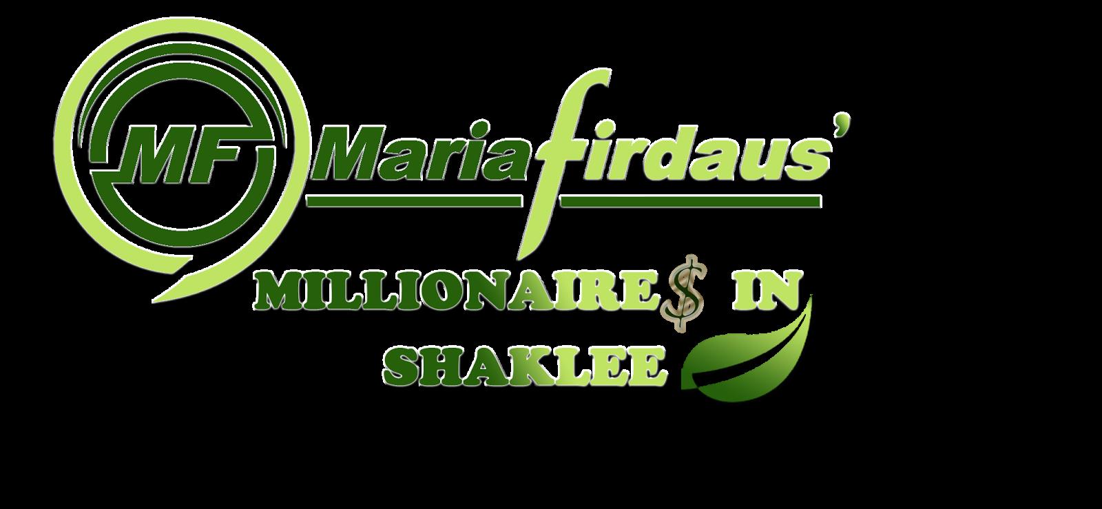 Maria Firdaus Millionaire in Shaklee