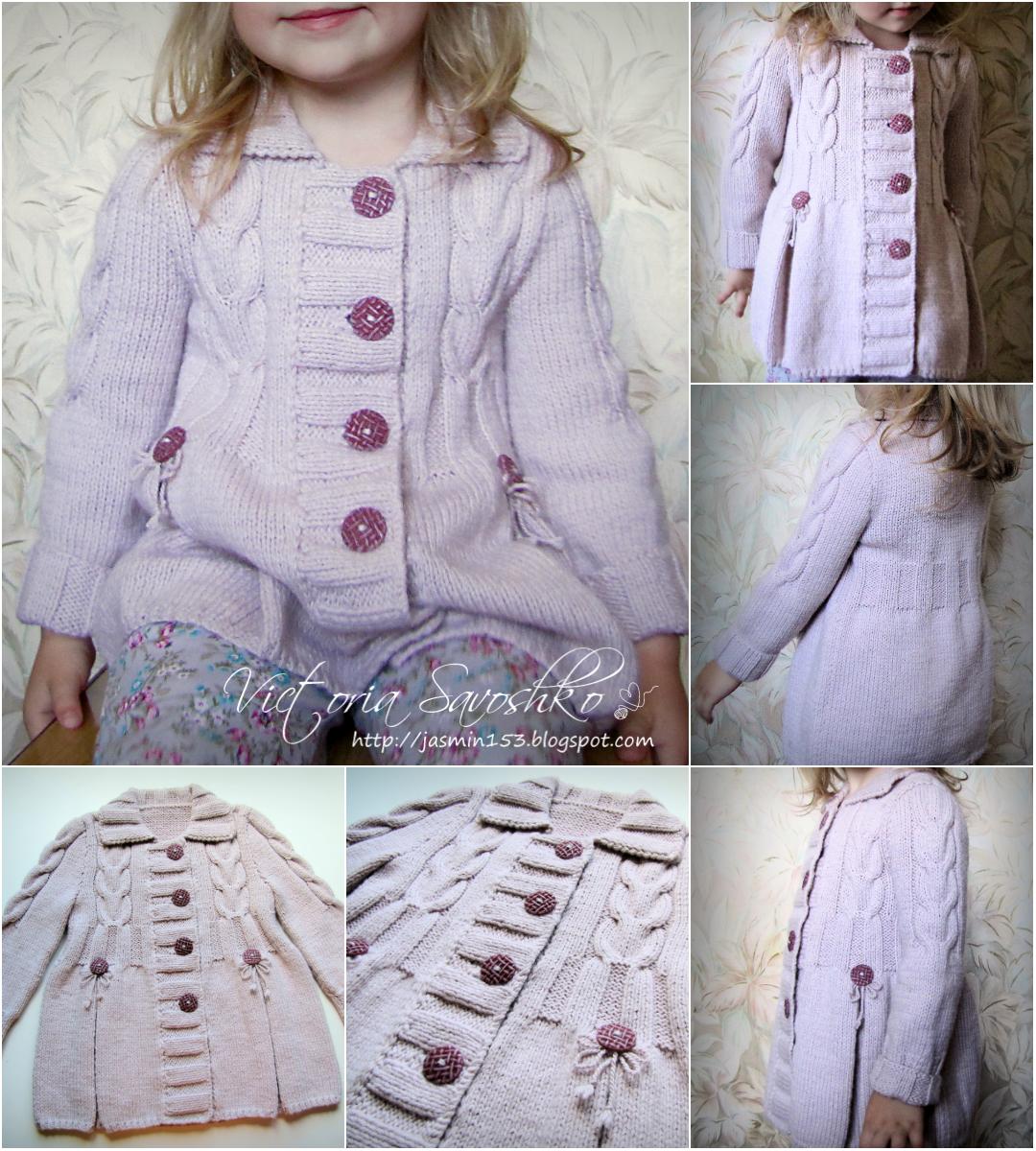 Своими руками вязаные пальто для девочки 540