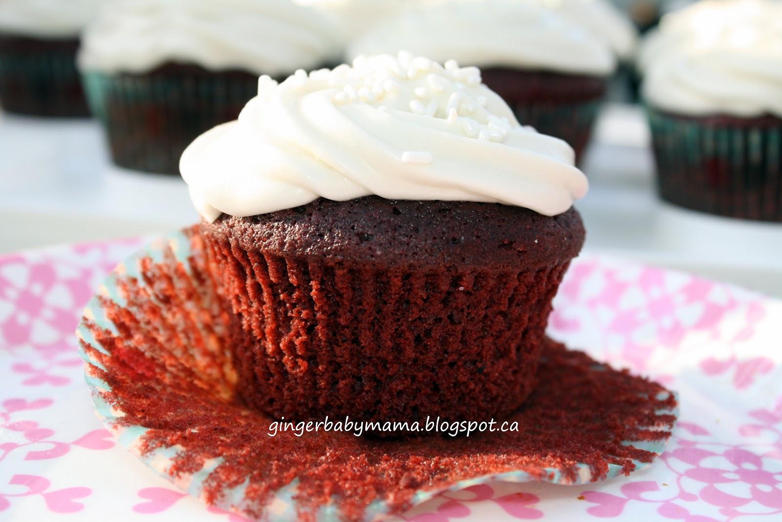 GingerBabyMama: Red Velvet Cupcakes with Vanilla Cream ...