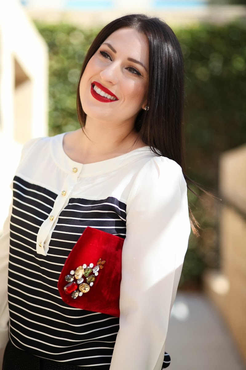 best-red-lipstick-holiday-outfit-ideas-kate-spade-king-and-kind-velvet-jeweled-bag