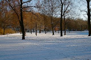 Volkspark Friedrichshain sous la neige - Berlin