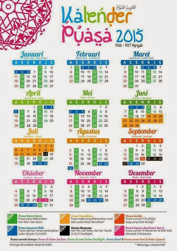 Kalendar Puasa 2015
