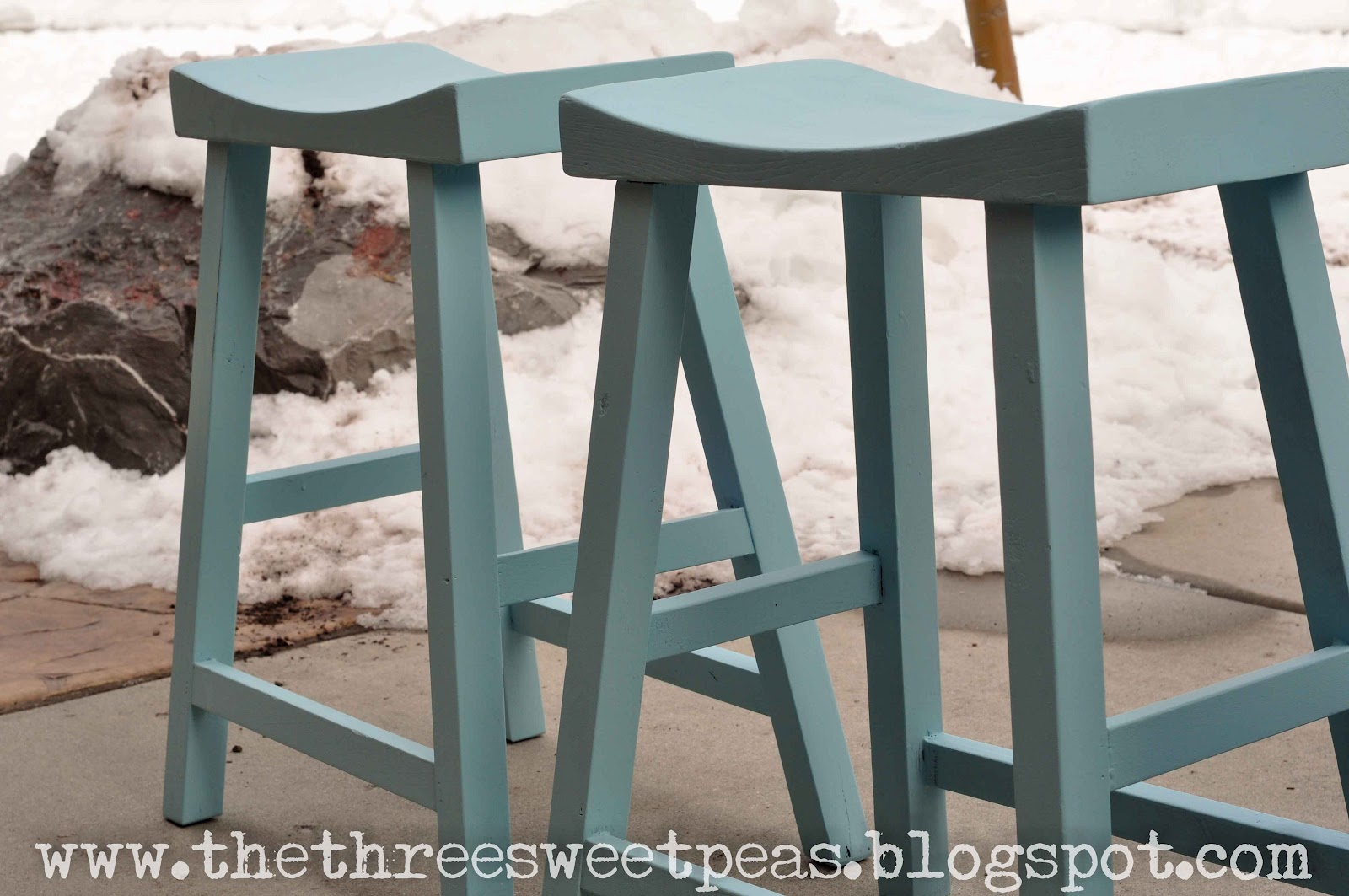 The Three Sweet Peas Counter Stool Redo Before And After