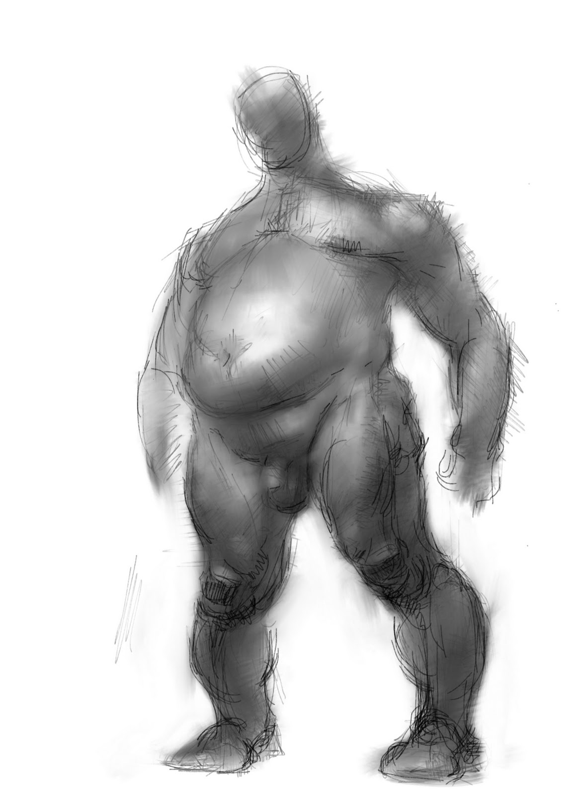 digital playpen: big fat naked guy i've been drawing on the subway