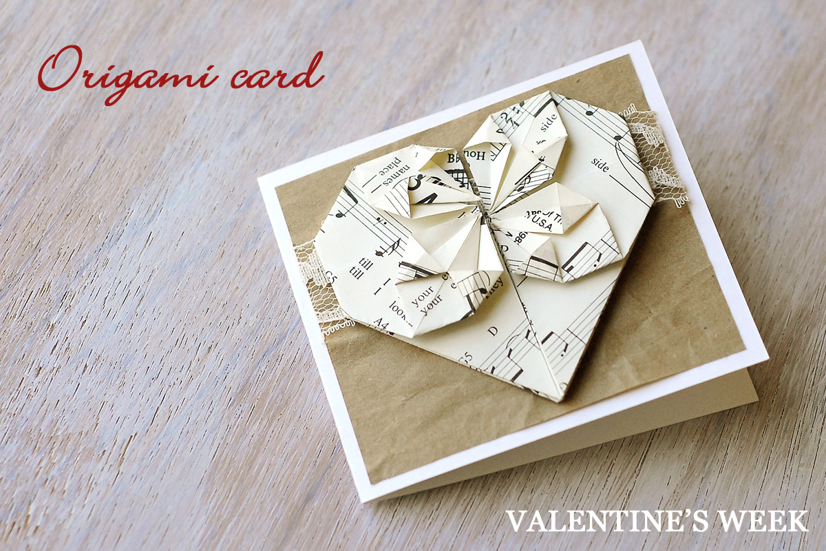 ORIGAMI VALENTINES DAY CARD