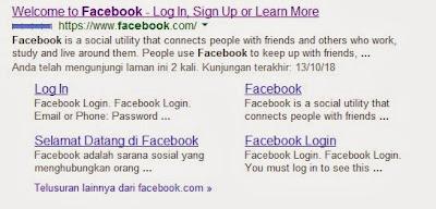 cara riset keyword - situs dengan sitelink