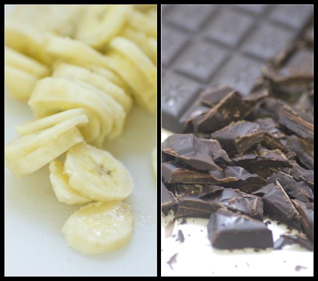 עוגת בננות שוקולד ופירורי חמאה