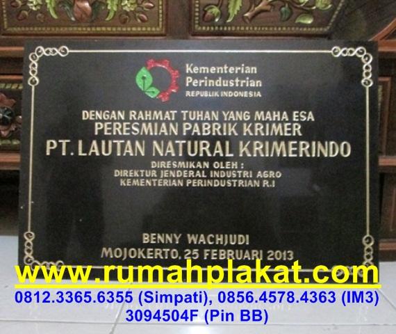 Plakat Marmer Kantor, Jual Prasasti Granit Surabaya, Bikin Prasasti Marmer Surabaya, 0856.4578.4363, www.rumahplakat.com