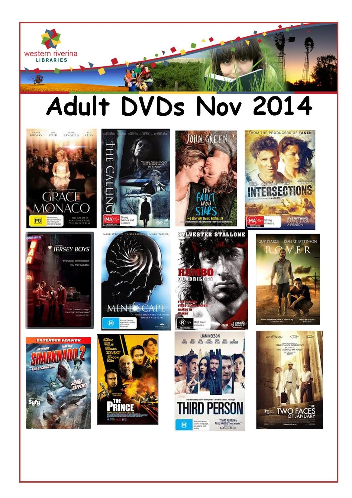New Adult Dvds At The Library