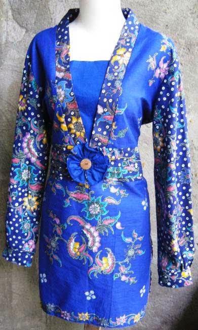 Model Baju Batik Wanita Lengan Panjang Remaja Enam Pilihan