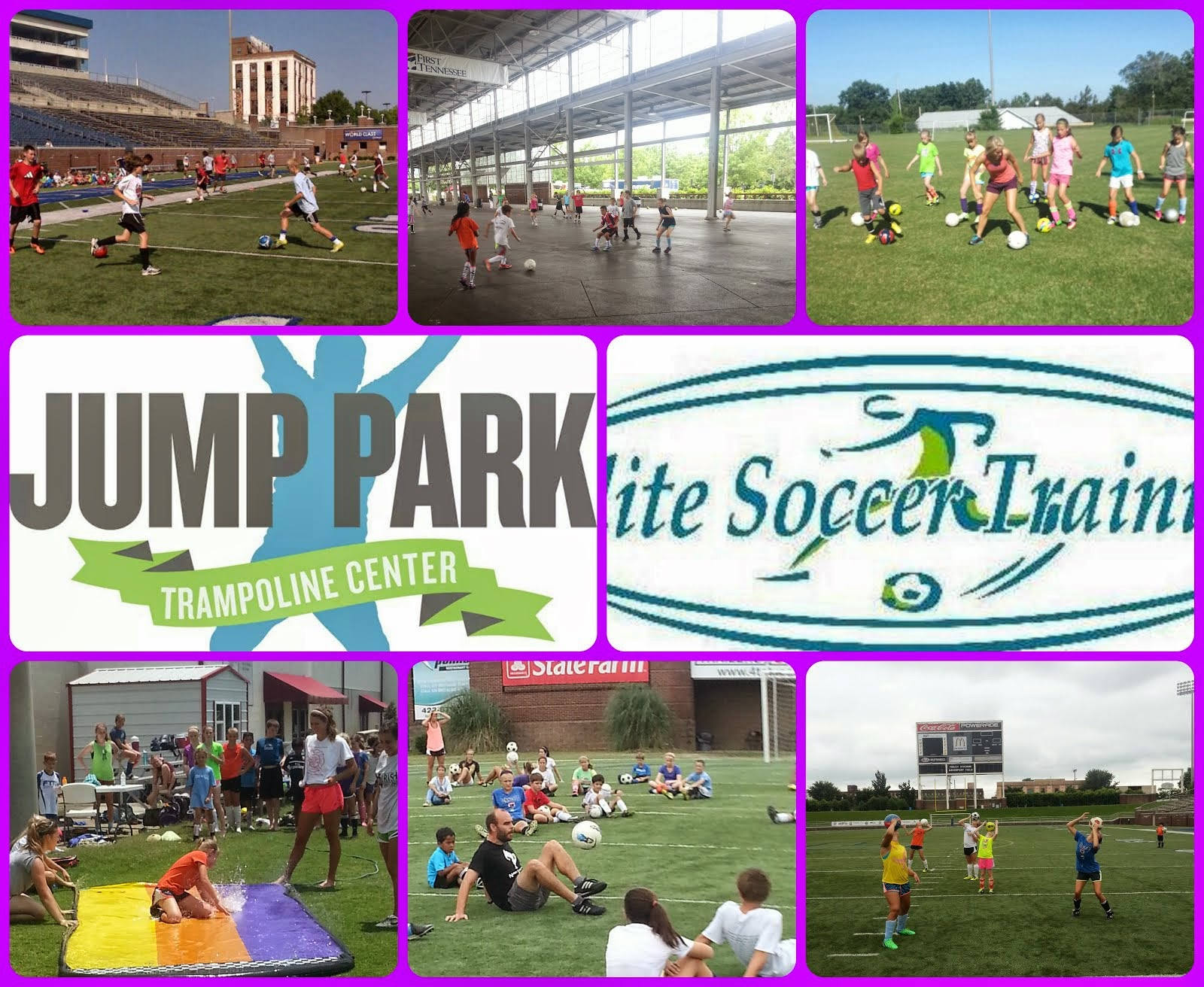 2014 Elite Soccer Training Annual Holiday Camp at Finley Stadium & Jump Park!