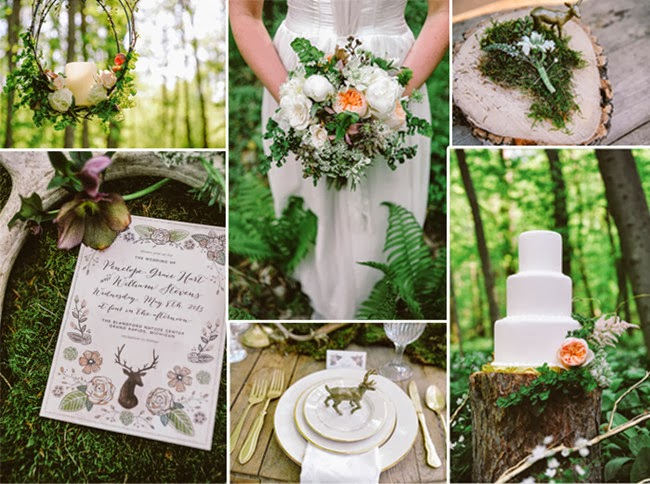 Rustic Spring Time Woodland Wedding Ideas 2014 Trends