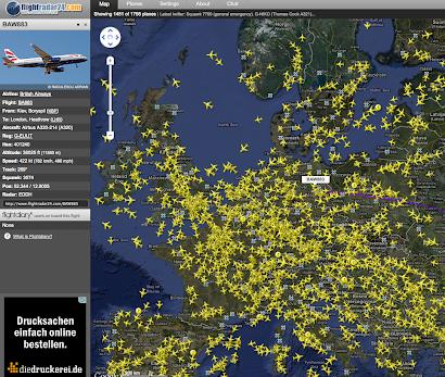 Alle Flieger Live in Echzeit hier:
