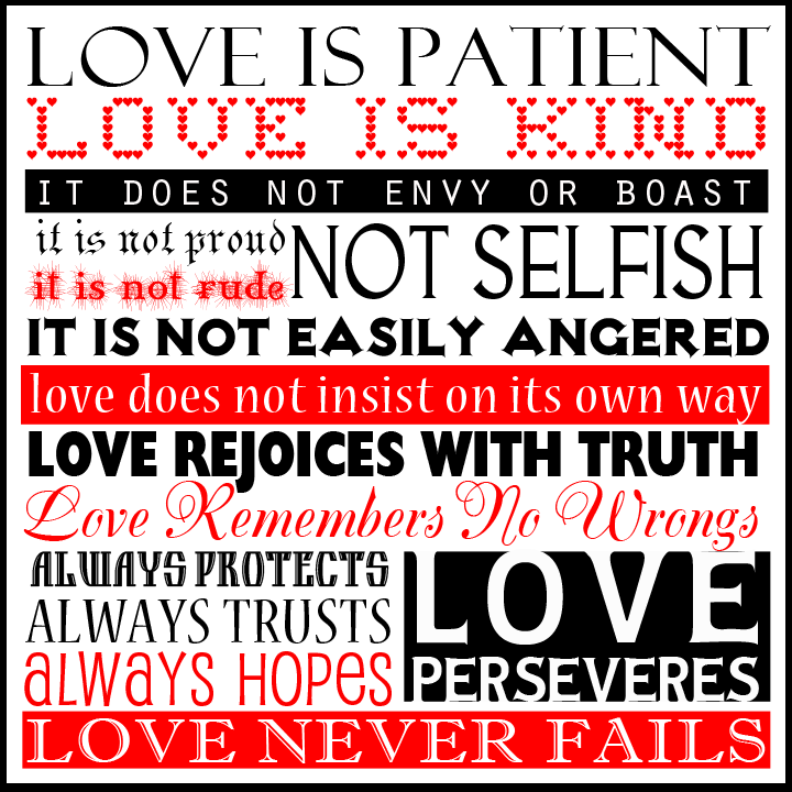 Love is Patient Love is Kind Love Never Fails