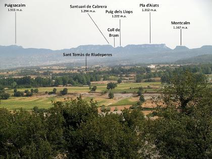 El Cabrerès des de la Serra de Sant Marc